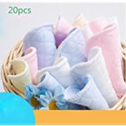 BeautyMood 20pcs Softest Natural Antibacterial Ecological cotton Washable Nursing Pads-Reusable for Breastfeeding pads Women Eco-friendly Collects Milk Pads ( colour random)