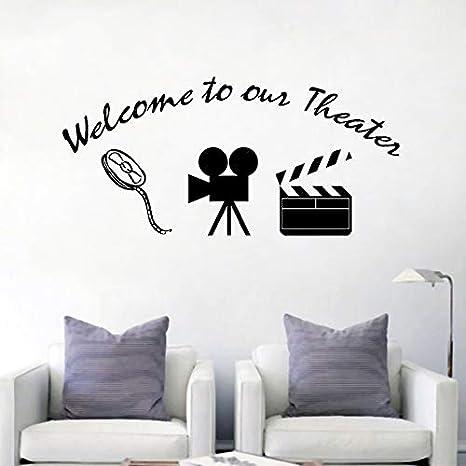 Bienvenido a Nuestro Cartel de Teatro Etiqueta de la Pared ...