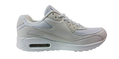 casual con usare in ideali Black White palestra da i scarpe Scarpe da e stile passeggiare chiusura UK7 lacci sportive per tessile Fibra ragazzi per 41 corsa unisex Blue EUR OIwqYZ
