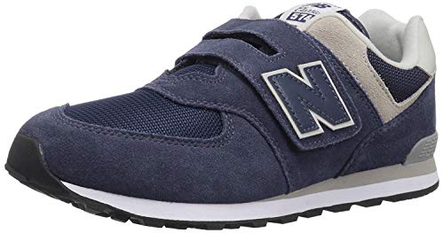 New Balance Boys 574v1 Hook and Loop Sneaker, Navy/Grey, 12.5 W US Toddler (1-4 Years)