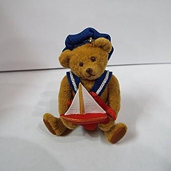 """hallmark Brown 2/"""" Bear Sailor with Ship Figurine Ornament"""