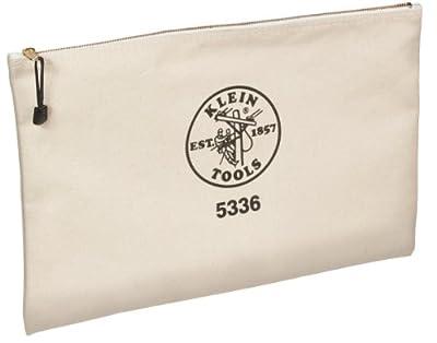 Klein Tools 5336 Canvas Contractor's Zipper Portfolio, Natural