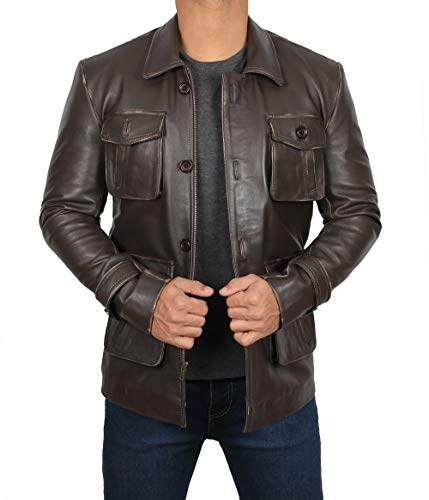 Brown Leather Jackets Men - Distressed Leather Jacket