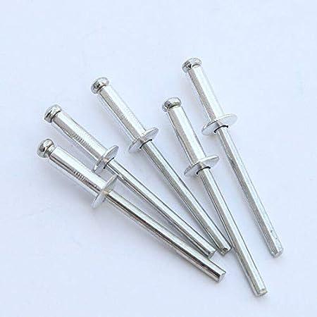 50PCS Coffret de Rivets assortis /4 * 8 mm /Ø 2.4-4.8 mm * 6-25 mm assortiment de rivets aveugles en alliage daluminium