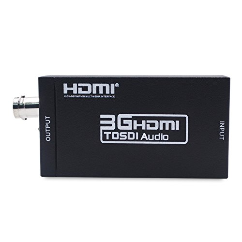 HDMI to SDI Converter Adapter HDMI SDI Adapter SDI/HD-SDI/3G-SDI Adapter Support 1080P for Camera Home Theater