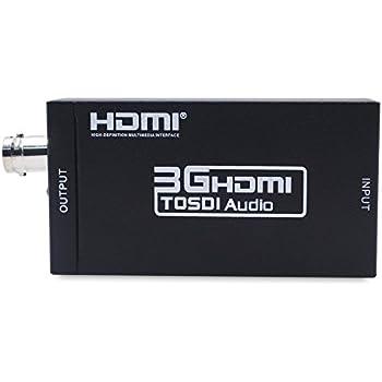 HDMI to SDI Converter Adapter HDMI SDI Adapter SDI/HD-SDI/3G-SDI Adapter Support 1080P for Camera Home Theater