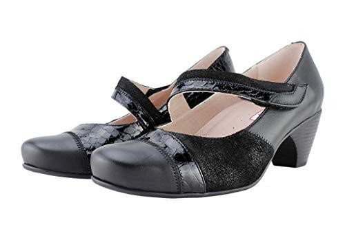 Comfort jane Speciale Larghezza Donna Negro Scarpe black Mary 175403 Pelle Piesanto YwxqE8pPx