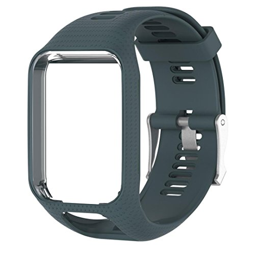 Price comparison product image Binmer(TM) Replacement Silicone Band Strap For TomTom Spark 2 / 3 Sport GPS Watch (Navy)