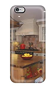 Top Quality Case Cover For Iphone 6 Plus Case With Nice Traditional Kitchen With Wooden Island And Stone Tile Backsplash Appearance