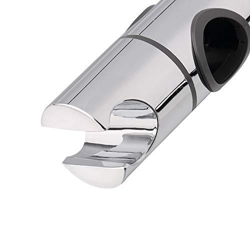 liekkaas 25mm ABS Chrome Replacement Shower Head Rail Slider Holder Adjustable Riser Bracket Rack Slide Bar Bathroom Faucet Accessories
