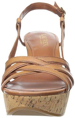 Lauren Ralph Lauren de la mujer quaylin sandalias de cuña Polo Tan