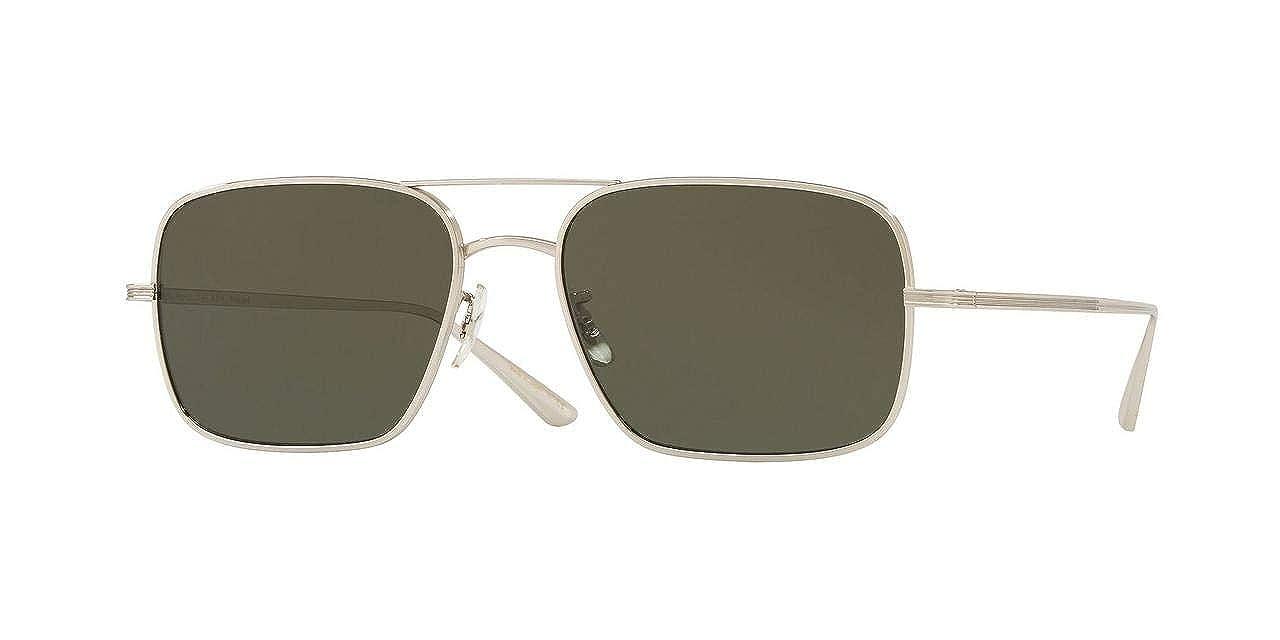 e9303e0a796af Amazon.com  Oliver Peoples OV1246ST - 5036P1 Sunglasses VICTORY LA SILVER  54MM  Clothing