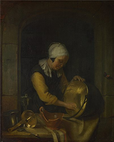 Honey Pot Costume Ideas (Oil Painting 'Godfried Schalcken An Old Woman Scouring A Pot ' Printing On Perfect Effect Canvas , 18 X 22 Inch / 46 X 57 Cm ,the Best Wall Art Gallery Art And Home Artwork And Gifts Is This Best Price Art Decorative Canvas Prints)