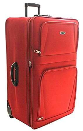 Extra Large Medium Small Lightweight Red Luggage Suitcases (Set of ...