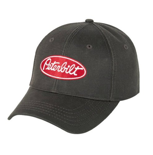 BD&A Peterbilt Trucks Motors Water Resistant Brown Oilcloth Cap