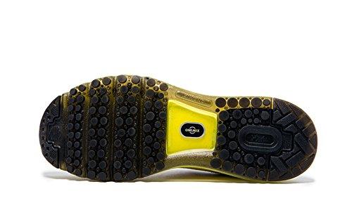 Onemix Air Zapatos para Correr en Montaña y Asfalto Aire Libre y Deportes Zapatillas de Running Padel para Hombre Negro / Amarillo