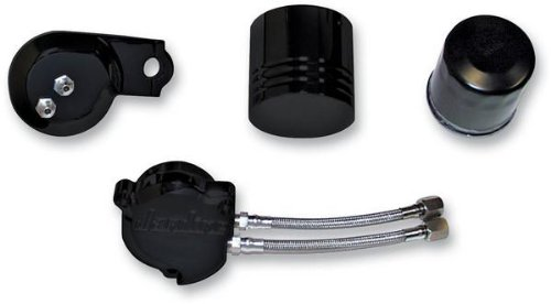 Jardine Oil Filter Relocaton Kit Black for Yamaha V-Star 1100 by Jardine (Image #1)