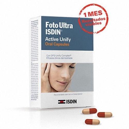 Amazon.com : Fotoprotector Fotoultra Isdin Active Unify Dp2 30 Capsulas Fusion Fluid : Beauty