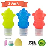 Travel Bottles Set - Magift BPA free Silicone Squeezable and Refillable Travel Containers Cosmetic Travel Bottles for Shampoo, Conditioner, Lotion, Toiletries