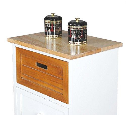 landhaus kommode beistelltisch wei schrank bad flur k chen regal nachttisch k chenausstattung. Black Bedroom Furniture Sets. Home Design Ideas