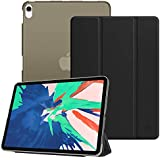 """Fintie Slimshell Case for iPad Pro 11"""" 2018 - Lightweight Smart Stand Cover with Translucent Frosted Back Cover Protector, Auto Sleep/Wake for Apple iPad Pro 11 inch (2018 Release), Black"""