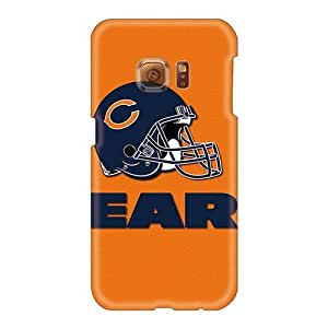 High Quality Hard Cell-phone Case For Samsung Galaxy S6 (ZuF12729fvwA) Support Personal Customs Beautiful Chicago Bears Image