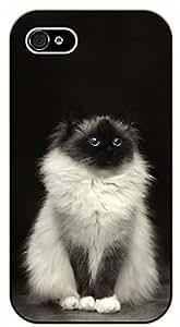 iPhone 5 / 5s Monochromatic cat - black plastic case / Cats, Cat