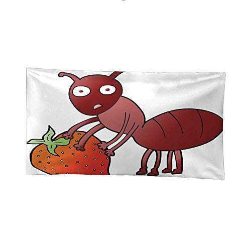 - Nicely Tapestries Cartoon ant with Berry Wall Tapestries for Bedroom 91W x 60L Inch