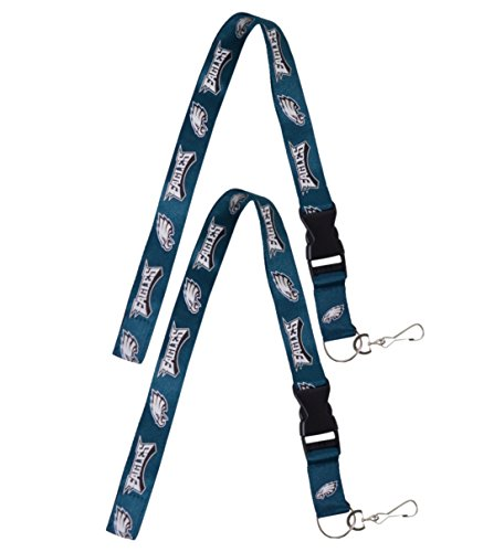 Official National Football League Fan Shop Authentic 2-pack NFL Lanyard/keychain Office Badge Holder (Philadelphia Eagles)