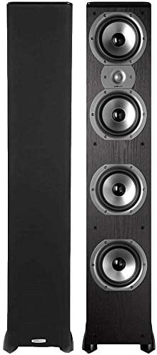 Polk Audio TSi500 High Performance Tower Speakers with Four 6-1 2 Drivers – Pair Black