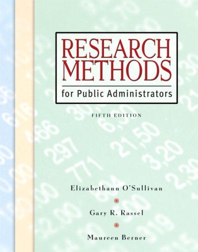 Research Methods for Public Administrators (5th Edition)