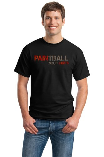 PAINTBALL: YES, IT HURTS Unisex T-shirt / Funny Paintball Player Humor Tee