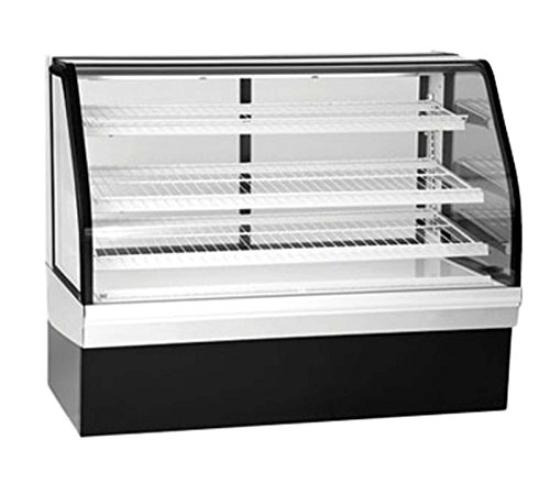 Federal Industries ECGD-50 Bakery Display Case Non-Refrigerated Tilt Out Curved Glass 50 Long x 48 High