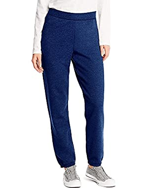 Hanes ComfortSoft EcoSmart Women's Cinch Bottom Leg Sweatpant_Navy Heather_XL