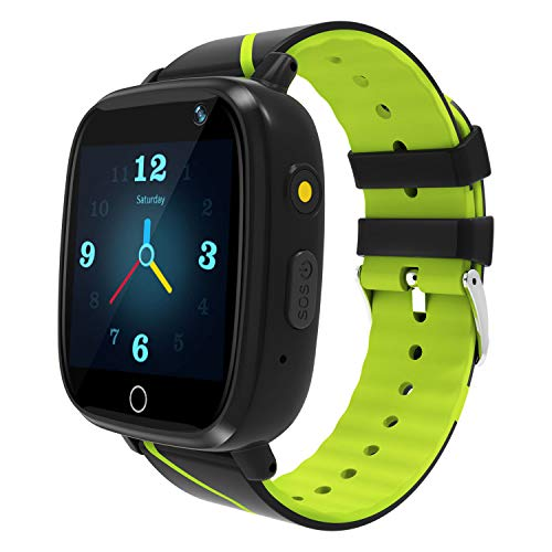 Kids Smart Watch GPS Tracker - Waterproof GPS Tracker Watch for Children Girls Boys with SOS Call Camera Touch Screen Game Alarm for Kids Boys and Girls (Green)