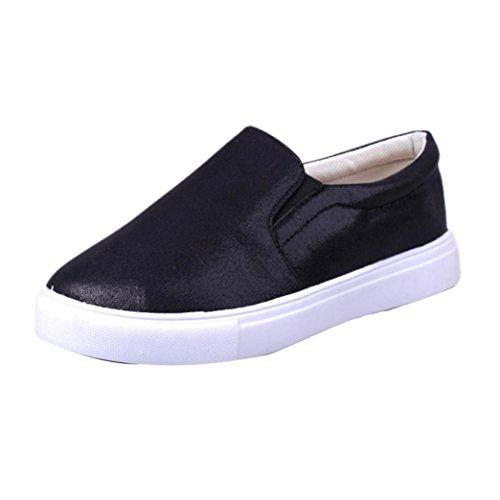 Saingace Frauen Frühling Mode Loafers Casual Flats Schuhe Lazy Sportschuhe Schwarz