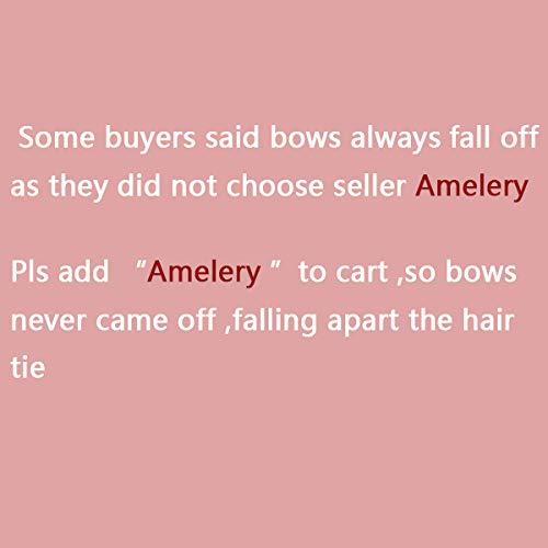Amelery Bébé Queue Cheval Cravate Filles Enfants De 20 Cheveux Bandeaux Nœuds Pour Cordes Élastiques Support Attaches nbsp;pcs Tissu Enfant rqBtxr