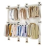 GoldCart GC522 Potable Garment Rack,Height 160-320 cm Width 140-300 cm Adjustable,Grey Close to