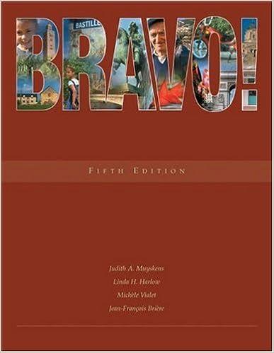 Bravo! (with Audio CD) by Muyskens Judith Harlow Linda Vialet Mich??le Bri??re Jean-Fran??ois (2004-11-03)