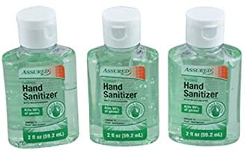 Assured Travel-Size Hand Sanitizers, Aloe Scented 3-ct  Packs