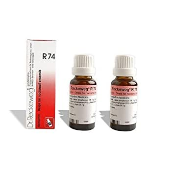 2 LOT X Dr  Reckeweg - Homeopathic Medicine - R74 Bed Wetting Drops
