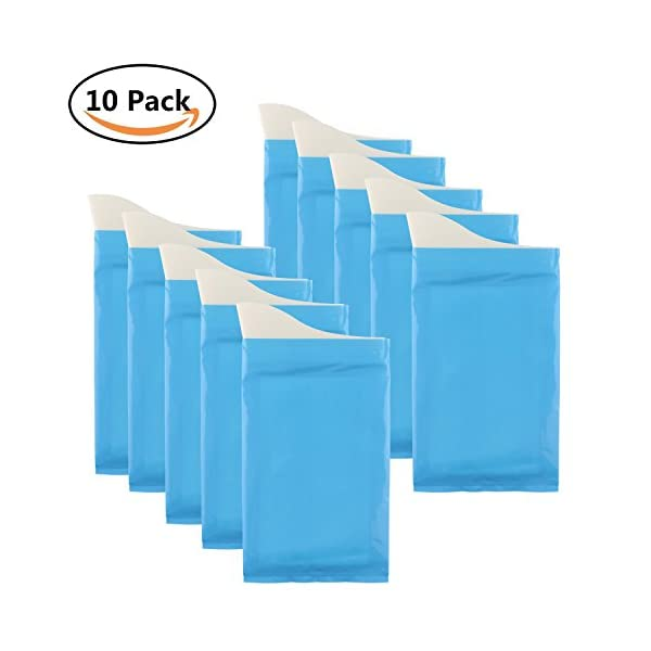 GGBuy Disposable Urine Bags Camping Pee Bags For Travel Urinal Toilet Super Absorbent Traffic Jam Emergency Portable Urine Bag Pee Bags Car Toilet For Men Women Children Brief Relief, 10 Pcs