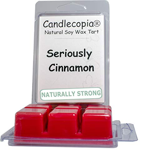 Candlecopia Seriously Cinnamon Strongly Scented Hand Poured Vegan Wax Melts, 12 Scented Wax Cubes, 6.4 Ounces in 2 x ()