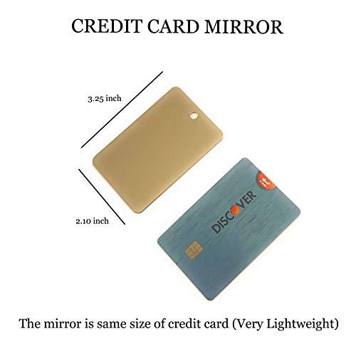 7926b3e3f603 Markha Small Mirror - Mini and Tiny Mirror Perfect for Pocket Camping  Signal and Survival Mirror