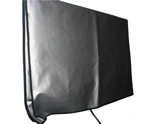 Large Flat Screen TV (65'') Vinyl Padded Dust Sliver Color Covers Ideal for Outdoor Locations Such as Restaurants, Hotels, Marinas or Poolside Locations (65'' Cover - 60'' x 4'' x 35.5'') by Viziflex (Image #5)