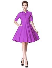 Vintage 1950s 50s Dress Style Retro Rockabiily Cocktail Polo Neck