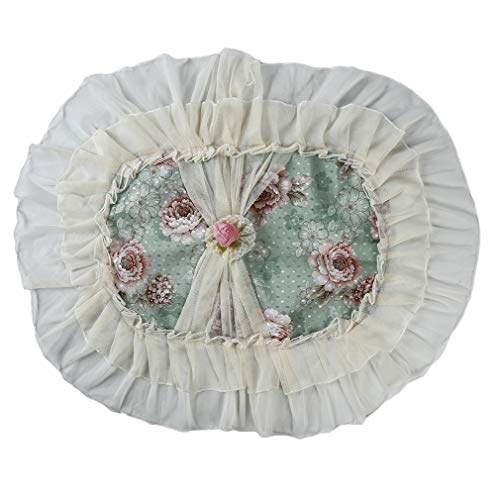 NIKOLay Lace Flower Rice Cooker Cover Oval Rice Cooker Cloth Dust Cover Elegant Home Decorative,Peony