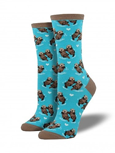 Socksmith Significant Otter Blue Womens Crew Socks, One Size (Otter Costume)