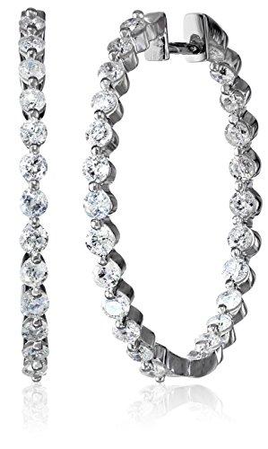 10k Gold White Diamond Hoop Earrings (1.50 cttw, H-I Color, I2-I3 Clarity)