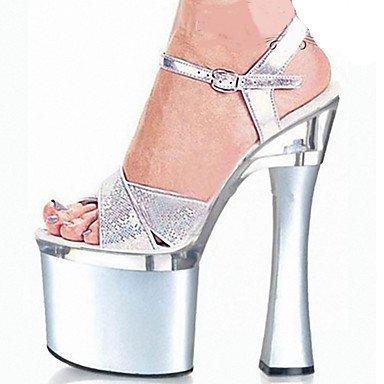 Damen Sandalen Sandalen Sandalen Frühling Sommer Herbst Winter Komfort Neuheit Club Schuhe Schuhe PU Wedding Dress Party & Amp; EveningChunky Ferse Plattform 0deb0e